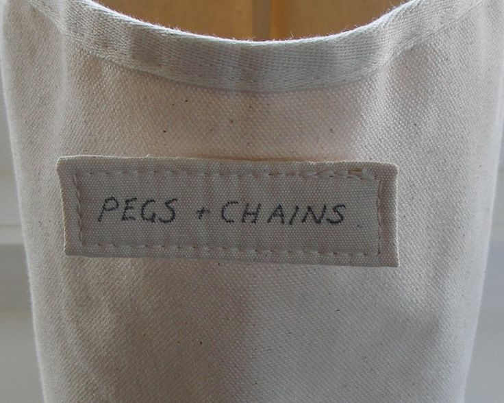 label on a rectangular storage bag