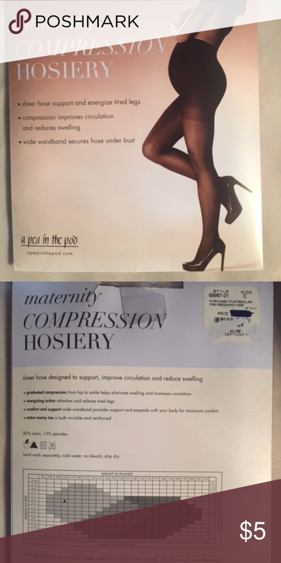 Black Pantyhose Compression hose for maternity. Size C. A Pea in the Pod Accessories Hosiery & Socks