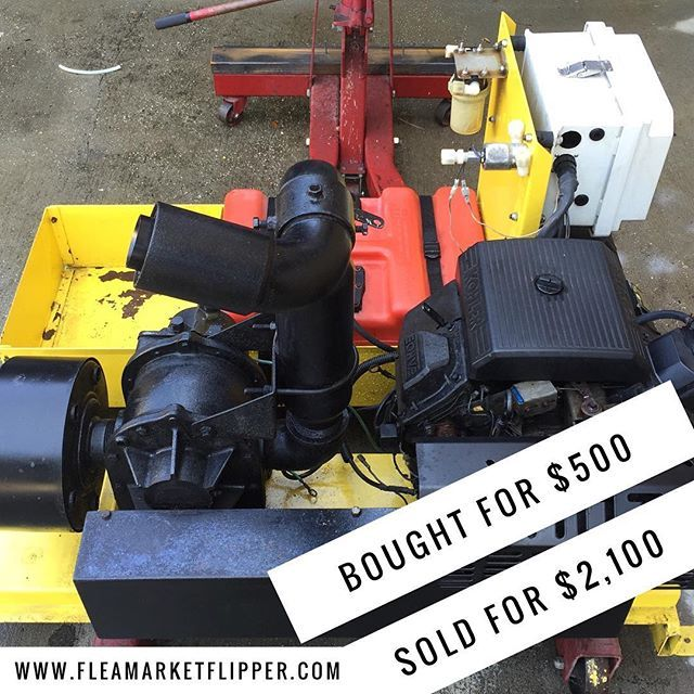 Sold this commercial mosquito fogger with my buddy last week. Paid $500 for it and sold it for $2,100!  #fleamarketflipper #sudehustle #buyandsell
