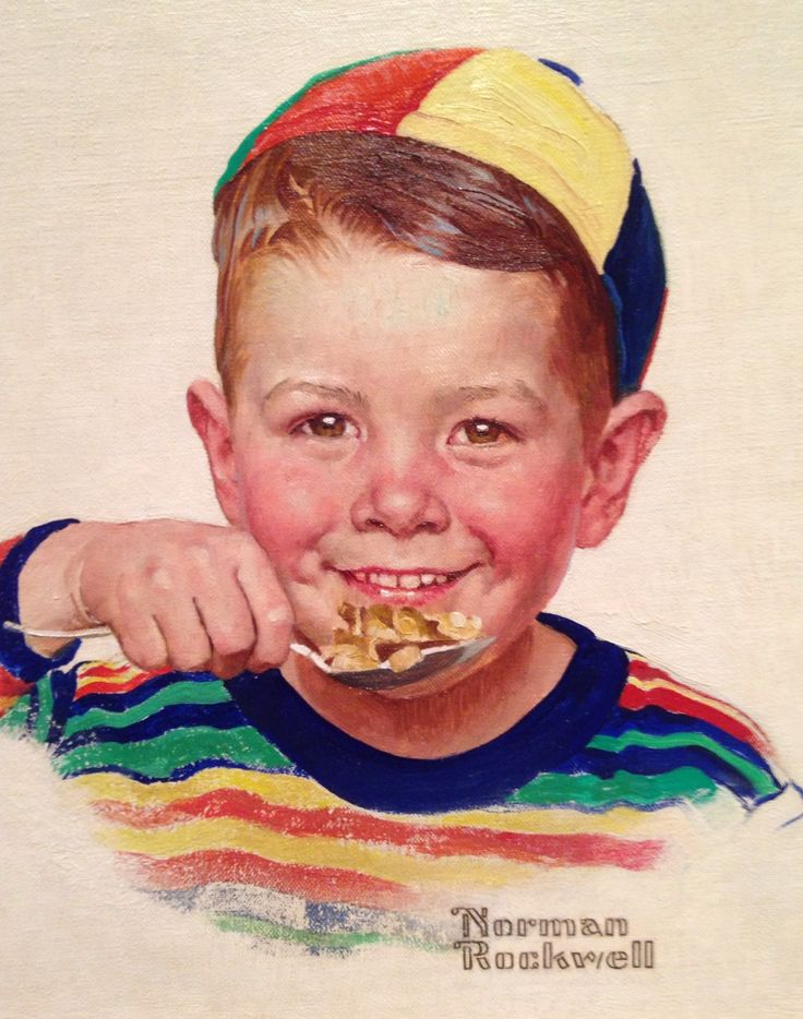 "Norman Rockwell (1894-1978), ""Beanie"" - (Kellogg Company advertisement, 1954) - (""American Chronicles: The Art of Norman Rockwell"" @Tampa, Museum of Art ~ Tampa, Florida, USA)"