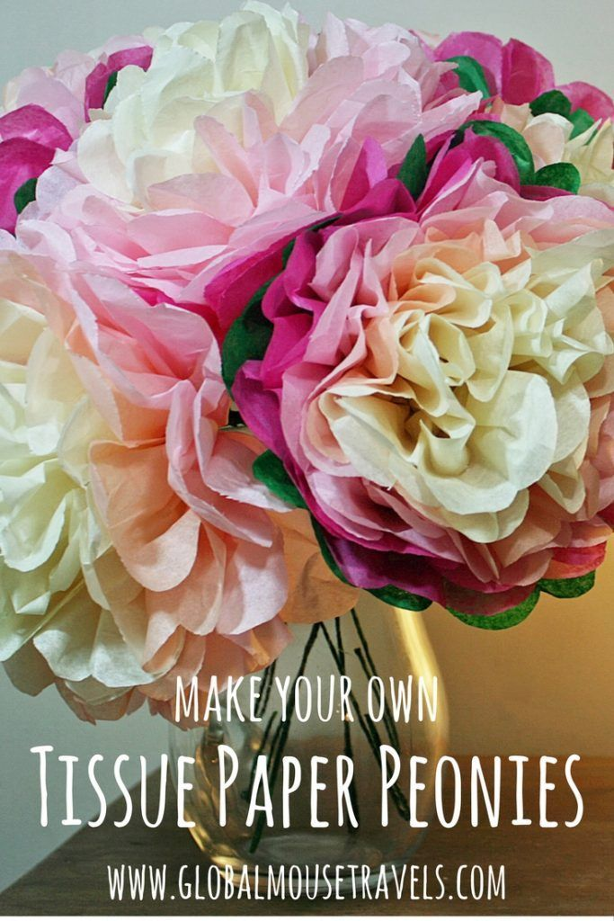 Make your own tissue paper flowers with our tissue Paper Peonies craft tutorial. Follow our step by step tutorial for this super easy spring craft which will cheer up any morning! Perfect for a Mother's Day gift, Easter gift or even an alternative wedding posy.