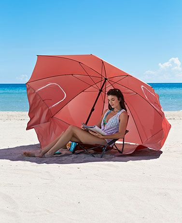 Bring your own shade along with you to the beach or campsite with this Portable Umbrella Sunshade. It's lightweight and easy to set up and take down. Features a