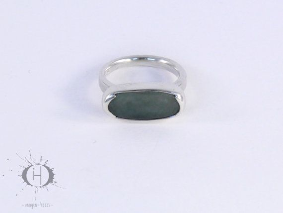 Boundary Sterling Silver and Greenstone by ImogenHobbsJewellery