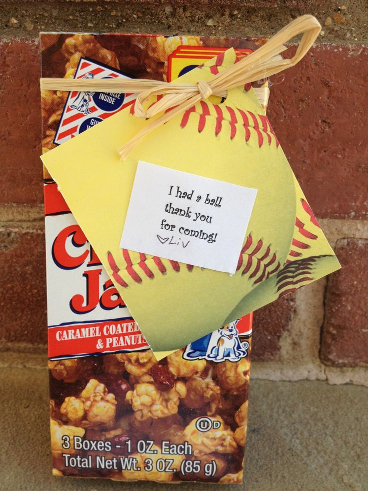 Party favors for a softball party