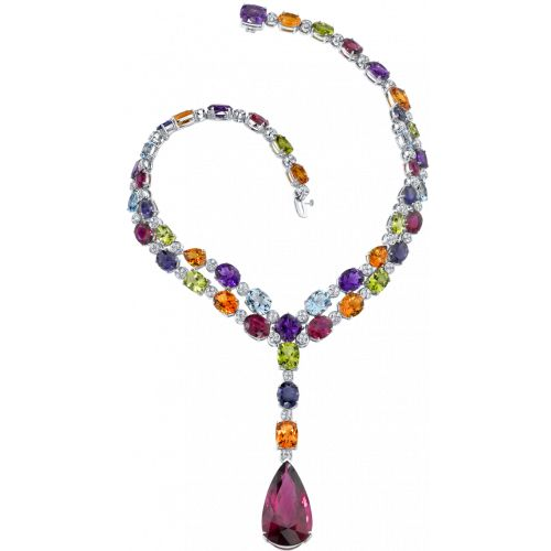 ... with amethysts citrines peridots lolites and topaz in white gold