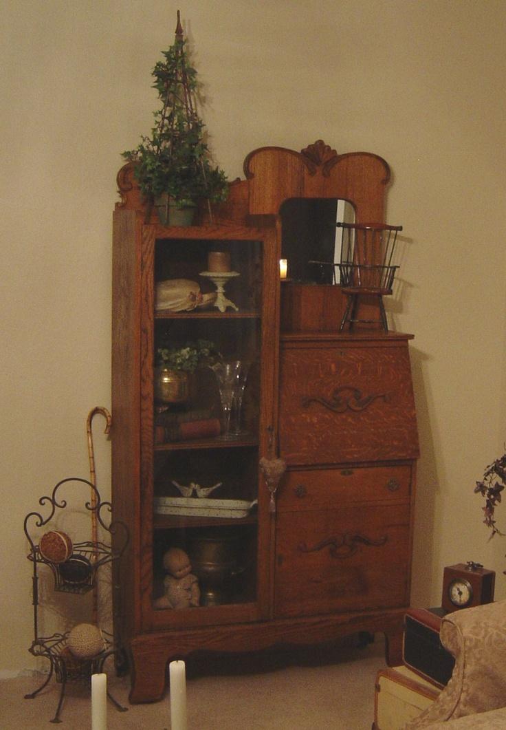 vintage secretary vintage furniture pinterest. Black Bedroom Furniture Sets. Home Design Ideas