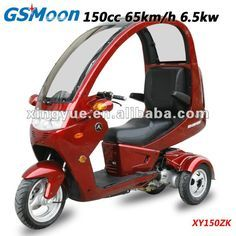 china top roof 150cc three wheel gas scooter