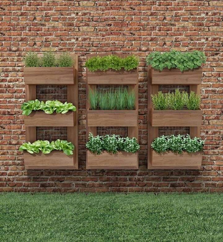 Vertical wood garden