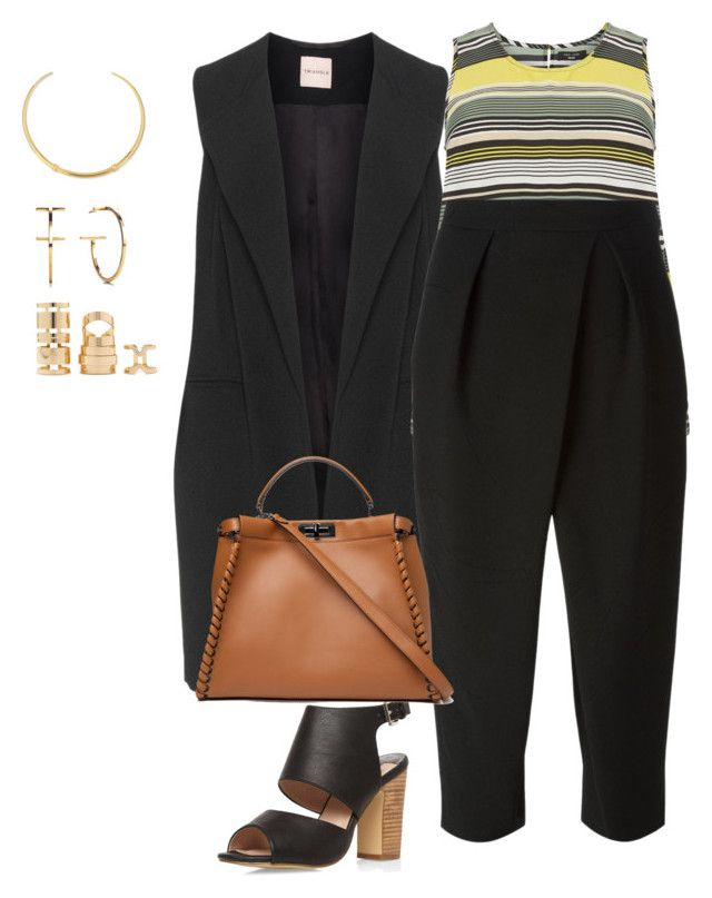 """plus size business chic"" by kristie-payne ❤ liked on Polyvore featuring New Look, Chloé, Dorothy Perkins, Fendi, Tory Burch and Forever 21"
