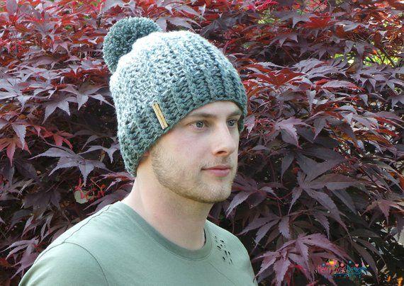 Unisex Crochet Hat Pattern Ombre Crochet Hat Pattern Mens