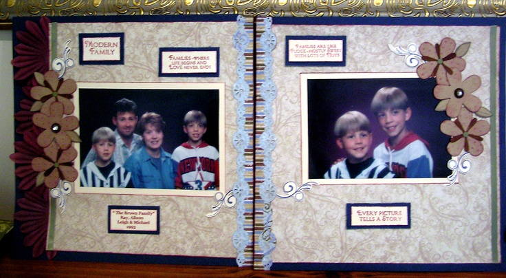 Double page layout of family members