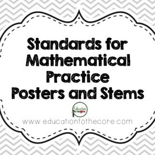 """FREE Standards for Mathematical Practice Posters andStudent-Friendly """"I Can"""" Statements"""
