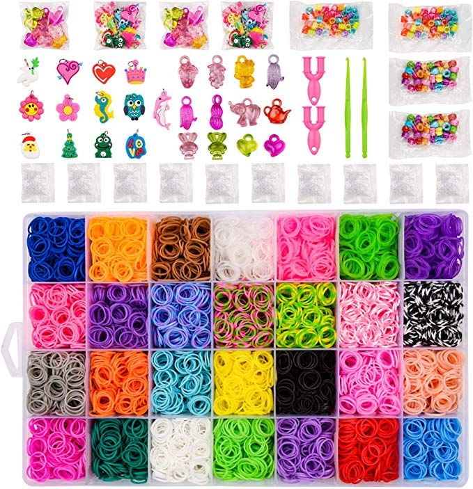 BLUESNOW 10700 Rubber Bands,Rubber Band Bracelet kit,Loom Bands,Bracelet Making Kit,Loom kit/…