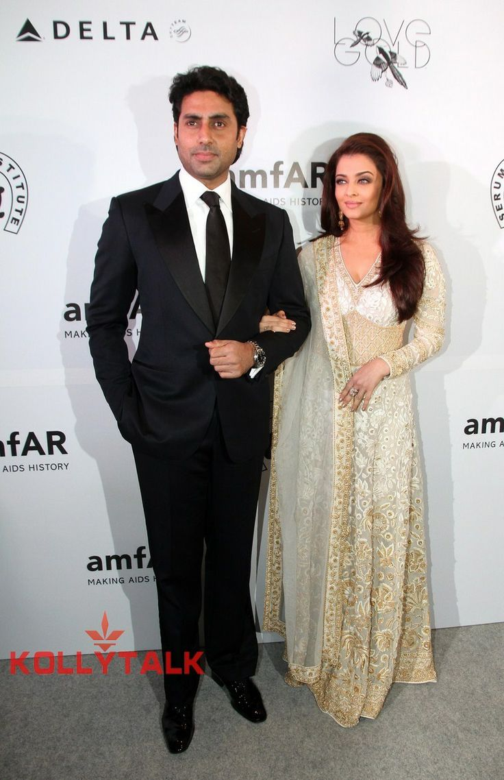 Abhishek & Aishwarya Rai Bachchan at the amfAR India Red Carpet Photos - Bollywood - Bollywood