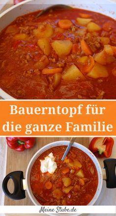 Bauerntopf mit Hackfleisch, Kartoffeln und Möhren. Einfach und schnell gemacht. stew with minced meat.