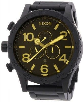 Relógio Nixon Unisex 51-30 Black/Orange Tint Watch #relogio #nixon