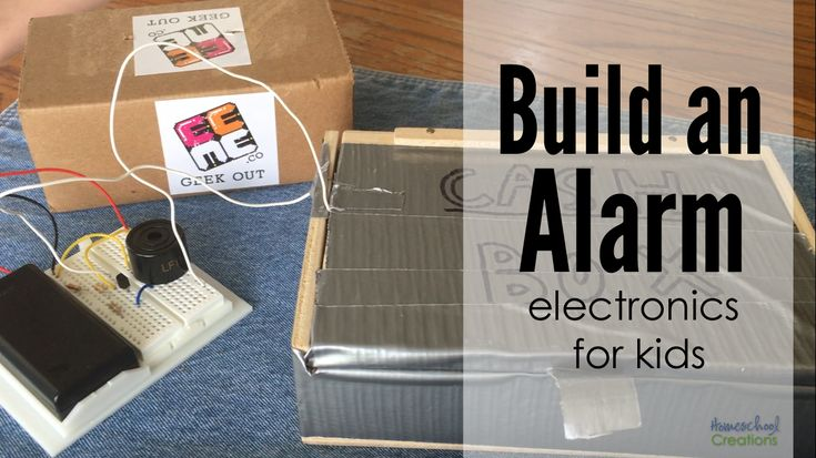 Build an alarm - an electronics project for kids using EEME's Project Tentacles.