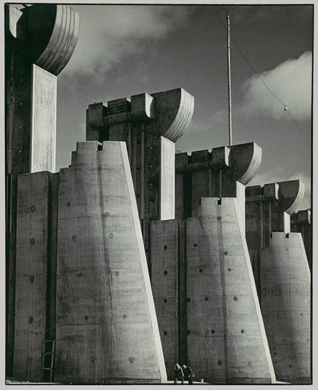 """Fort Peck Dam, Montana, 1936,"" Margaret Bourke-White (American, 1904–1971), Gelatin silver print"