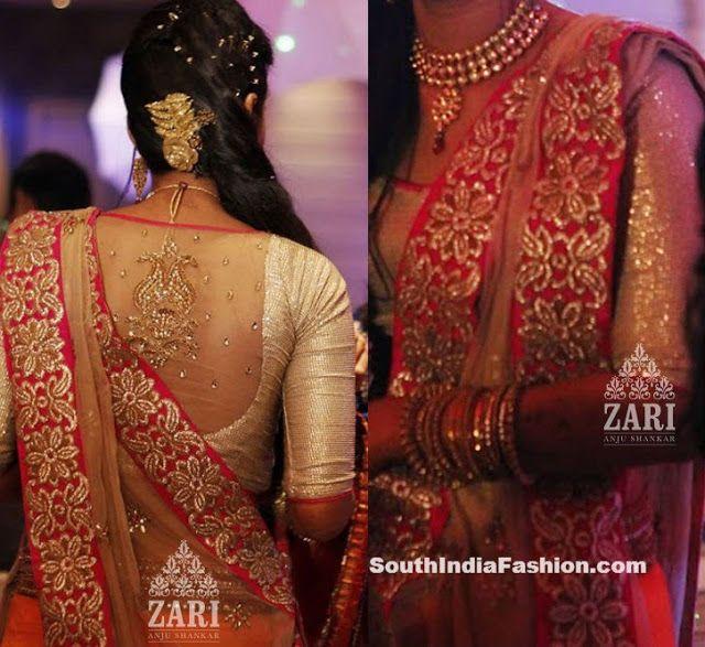 Bridal Saree Blouse Designs by Zari Anju Shankar