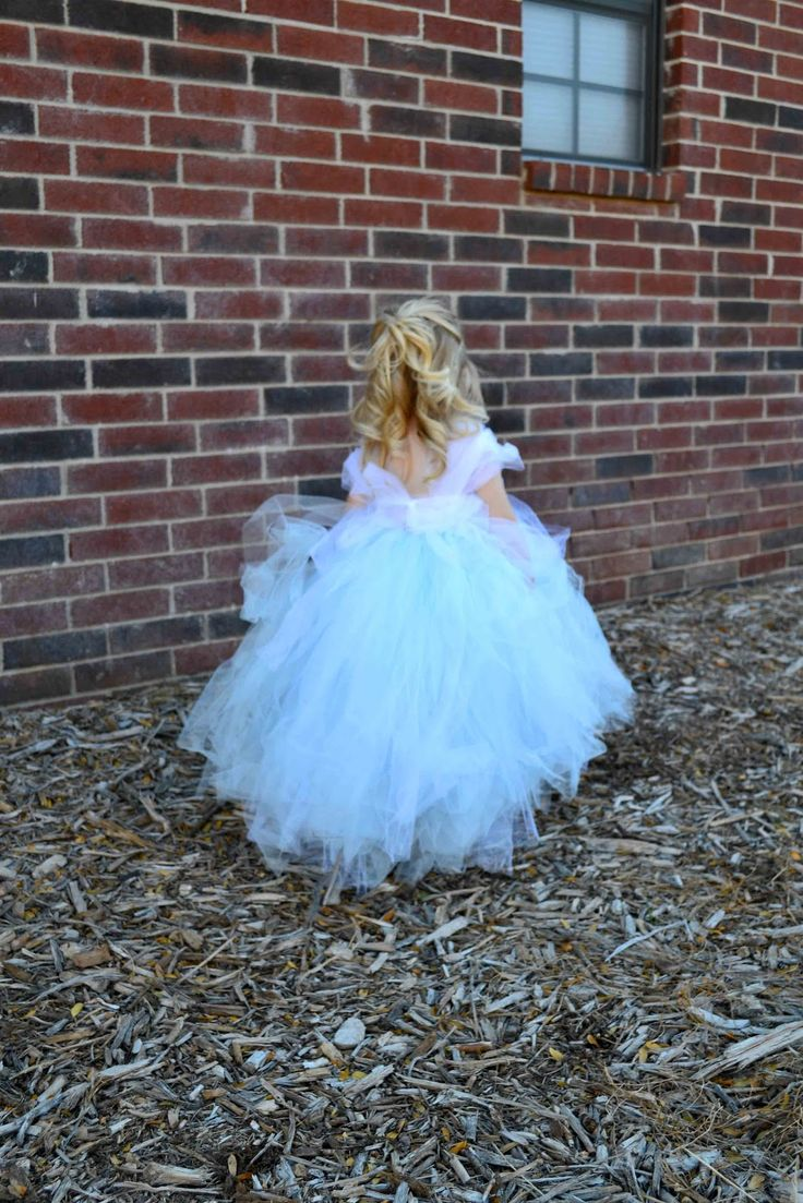 Babblings and More: No-Sew Tulle CINDERELLA Dress!