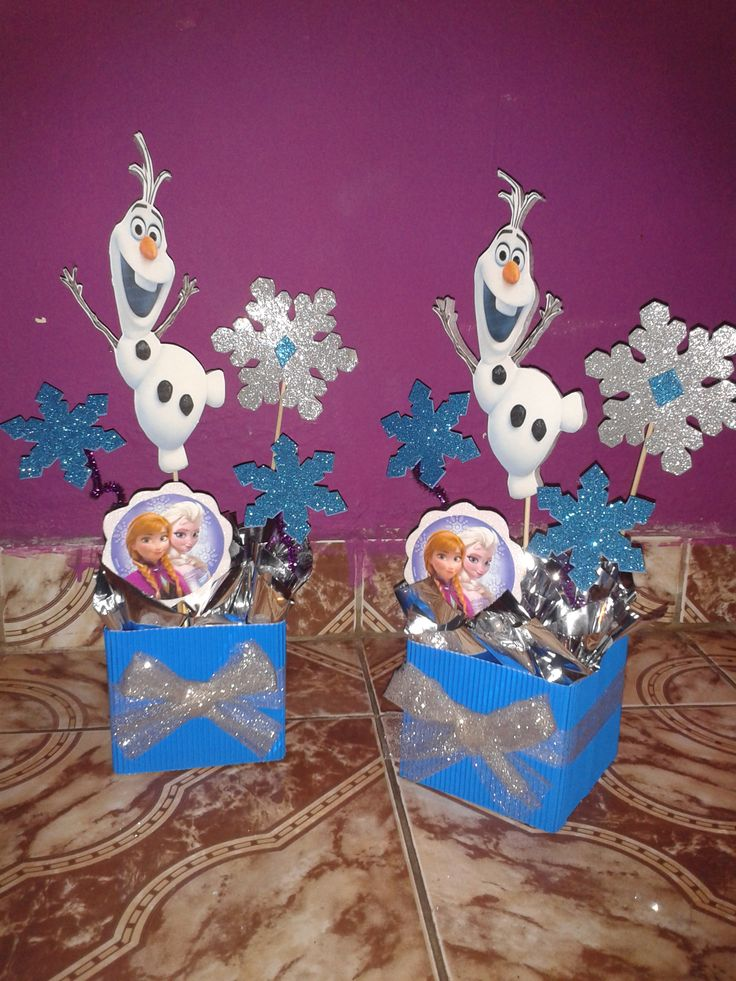 Centros de mesa de frozen mis trabajos pinterest more fiesta frozen frozen party and - Centros de mesa de frozen ...