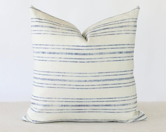 blue and cream pillow covers blue