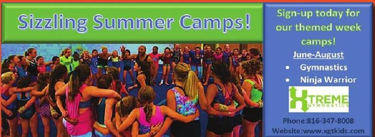 Xtreme Gymnastic's summer camps are now enrolling!! Don't loose your spot! #ClippedOnIssuu from iFamilyKC May 2016 // For more family resources visit www.ifamilykc.com ! :)