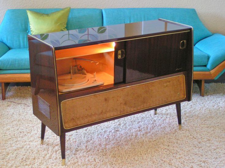 Vintage Grundig Majestic International Stereo Console