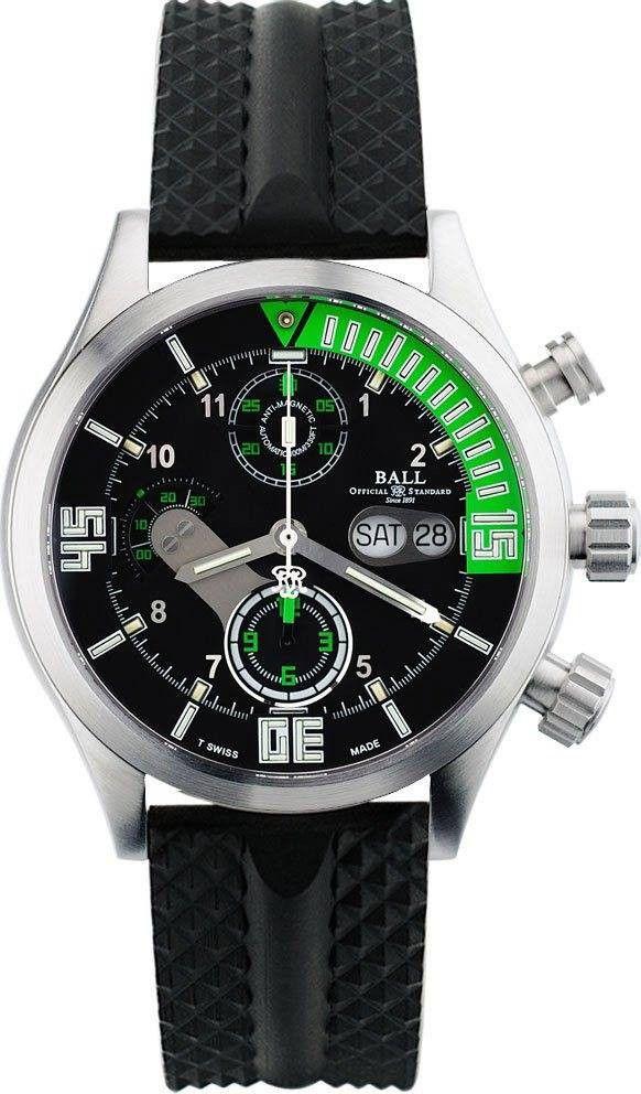 Ball Watch Company Diver Chronograph #bezel-fixed #bracelet-strap-rubber…
