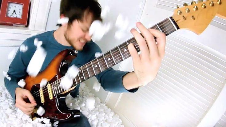 Guy plays Enter Sandman backwards, then plays video backwards. Result is amazing. Metallica - Enter Sandman (BACKWARDS cover)