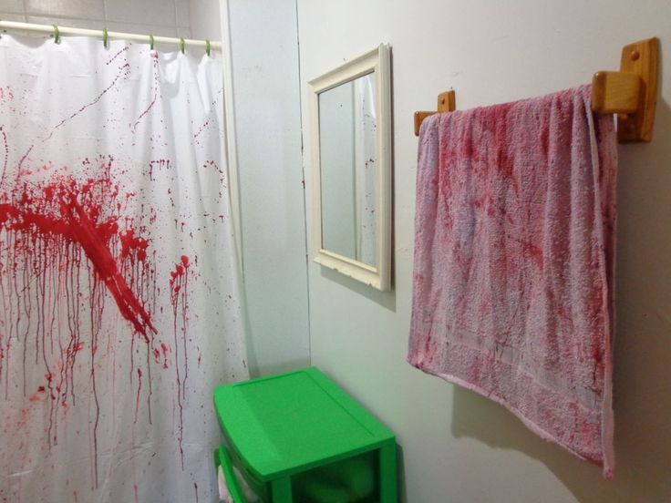 Make your bathroom look like a horror murder scene. MICHAEL I WANT TO DO THIS PLEASE. PLEASE.