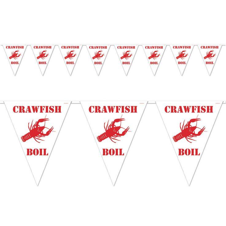 CRAWFISH BOIL Backyard Summer STREAMER Banner Birthday Party Decoration #Beistle #crawfishboil