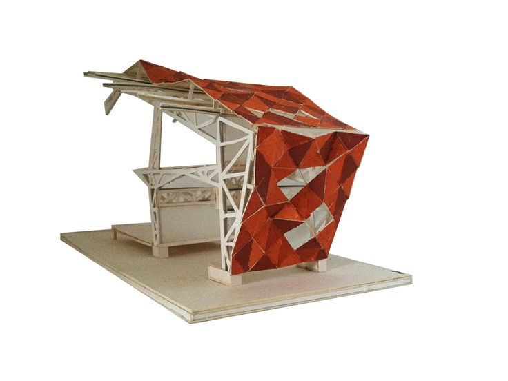 Patmala Boondej 5434777425 (aj.Pan) Meet Meat Physical Model. The main construction for Meet Meat is truss system with metal sheet act as a shell covers both the facade and the roof.