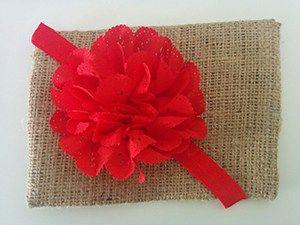 Κορδέλα κόκκινη με λουλούδι