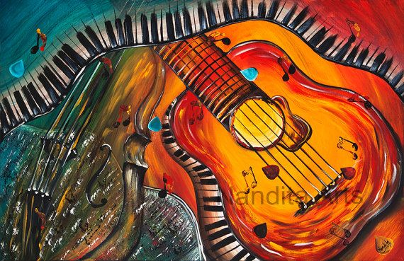 Guitar art prints for sale modern art and abstract by for Abstract posters for sale