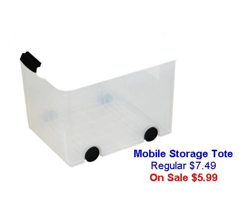 Mobile Storage Tote