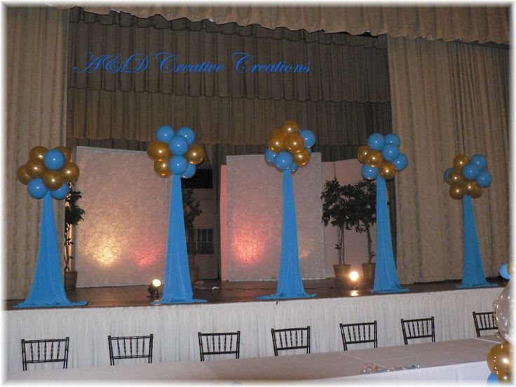 Photo via photos decor and balloons for Balloon decoration for stage