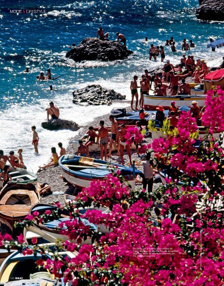 CAPRI LANDSCAPE La Fontelina Capri Photography Beach Art ...  |Capri Beach Scenes