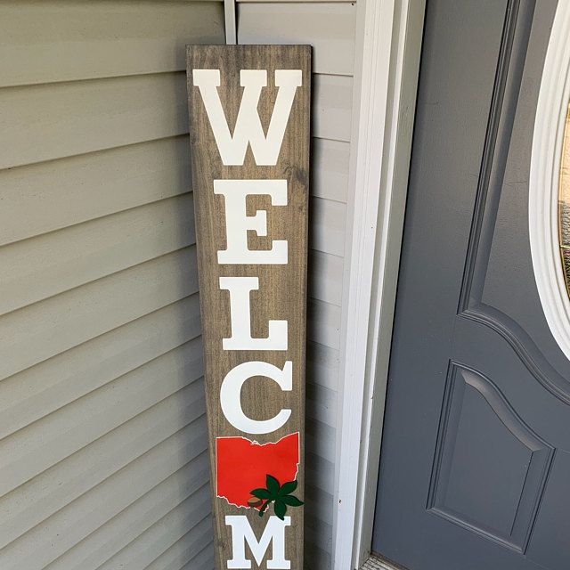 Home State Porch Sign Welcome Ohio State Porch Outdoor