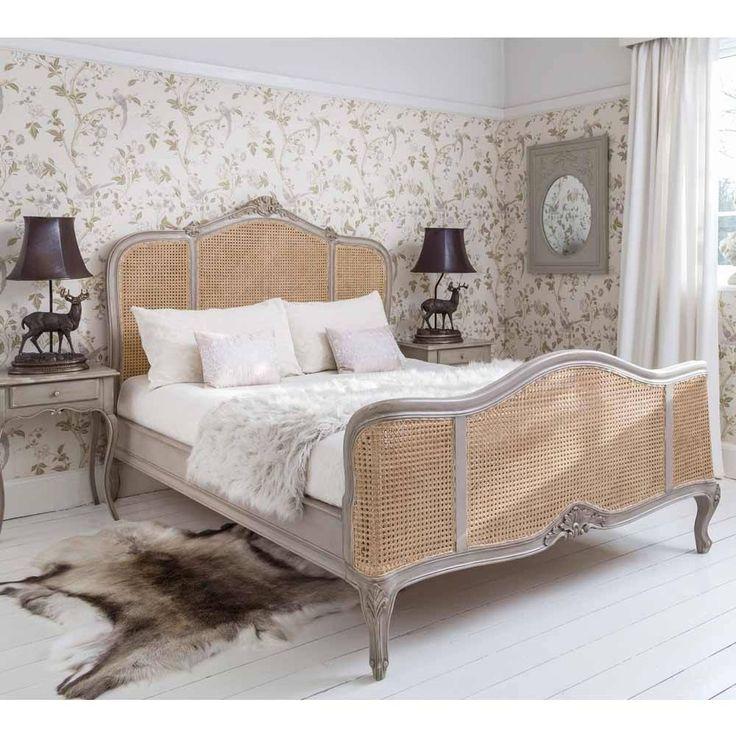 Normandy Rattan Painted French Bed | Luxury Bed #LuxuryBeddingBoudoir #LuxuryBeddingIdeas