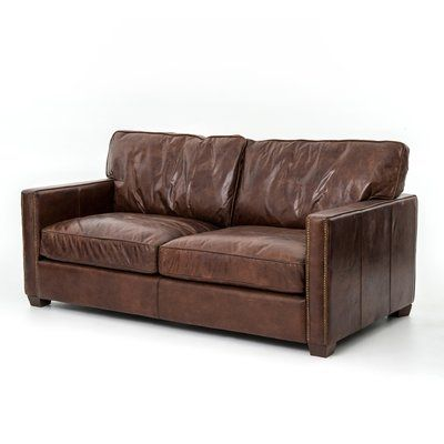 Lark Brown Leather Couch