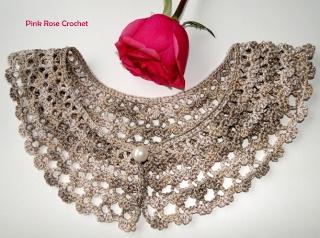 PINK ROSE CROCHET /: Colar Gola Rendada - Crochet Collar