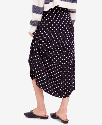 c447c43ff18e39 Free People Retro Love Polka-Dot Midi Skirt - Black And White Combo 10