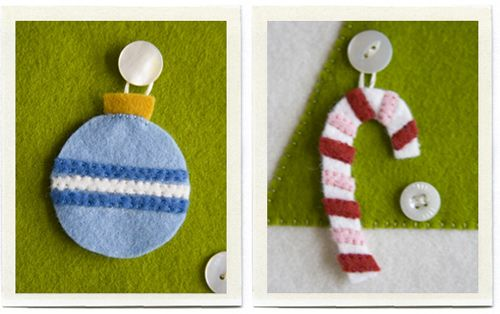 Felt ornaments for advent tree