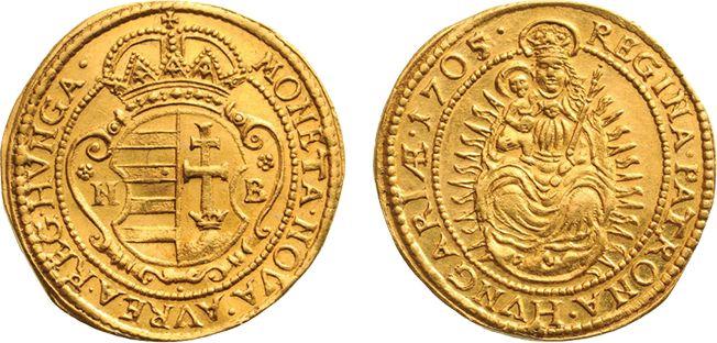 II. Rákóczi Ferenc nagybányai aranyforintja