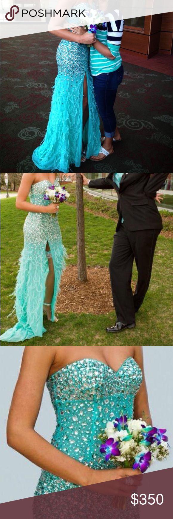 Selling this SIZE 2 Turquoise prom dress 👗 on Poshmark! My username is: baileyo5. #shopmycloset #poshmark #fashion #shopping #style #forsale #PeachesBotique #Dresses & Skirts
