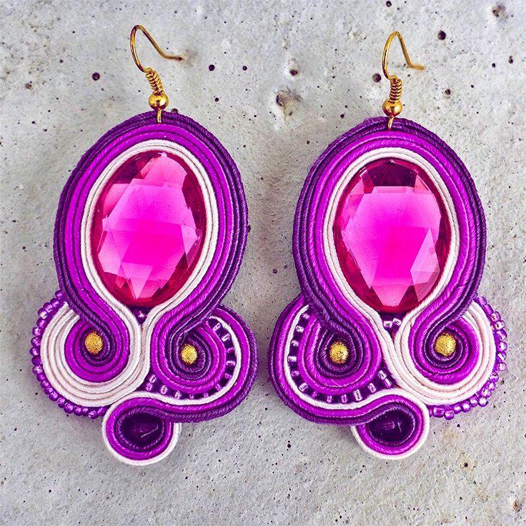 Handmade ZuzDesign Náušnice Mysterious Pink http://femmefashion.sk/zuz-design/2385-nausnice-mysterious-pink.html