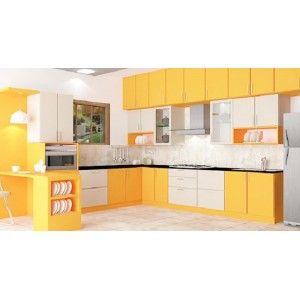 Marigold L   Shape Kitchen With Laminate Finish. Kitchen Design  OnlineKitchen ...