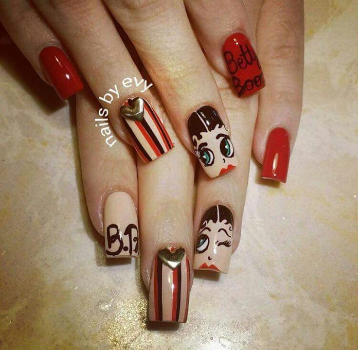Betty Boop Nails: 241 Best Images About Nail Art On Pinterest