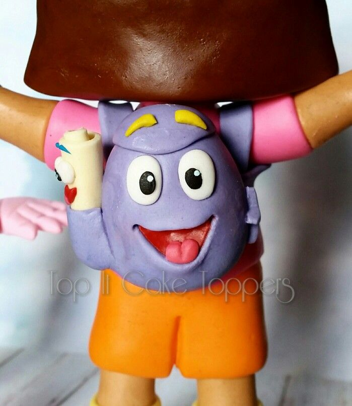 Dora the explorer cake topper. Backpack & Map. Made with marshmallow fondant.